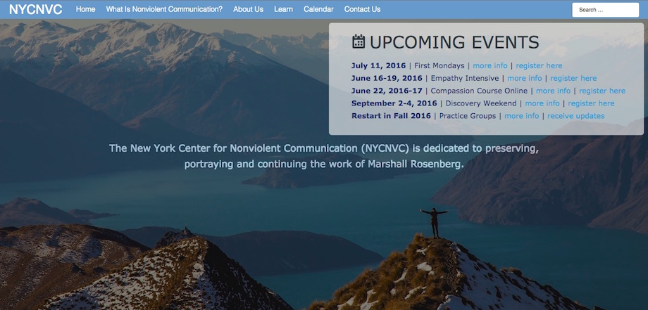 NYCNVC website screenshot